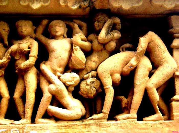 statue sex orgy